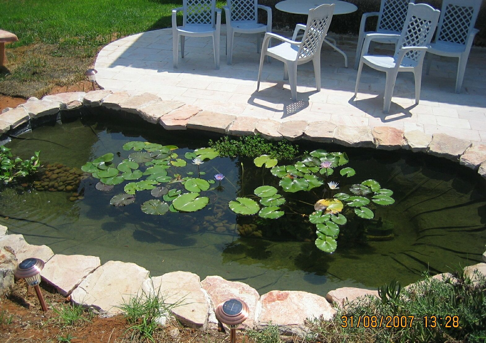My 600g koi pond i know what i did this past summer for My koi pond