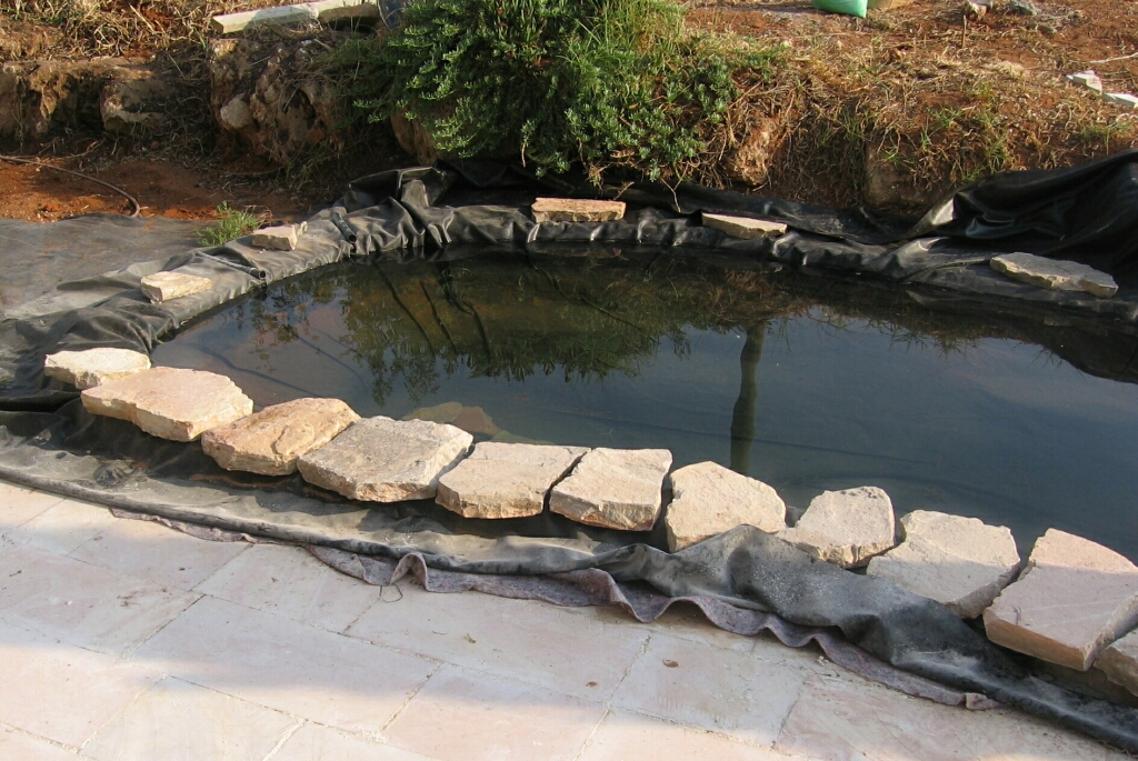 My 600g koi pond i know what i did this past summer for Garden pond edging